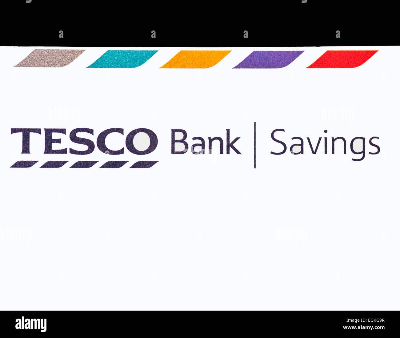 Tesco Bank Savings account - Stock Image