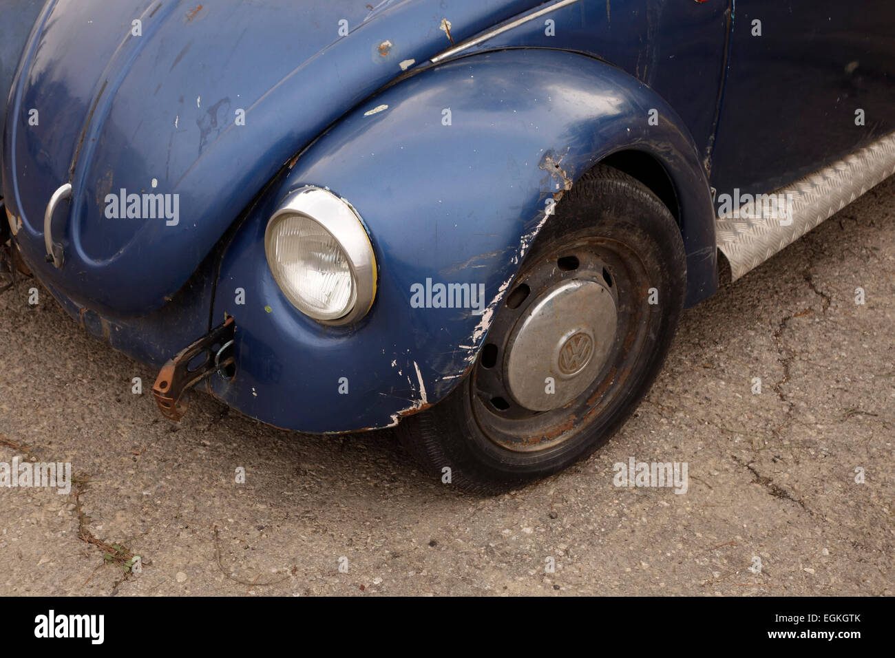 An old Volkswagen car - Stock Image