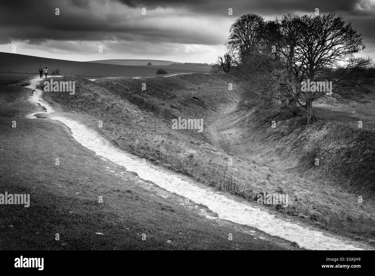 Avebury Footpath - Stock Image