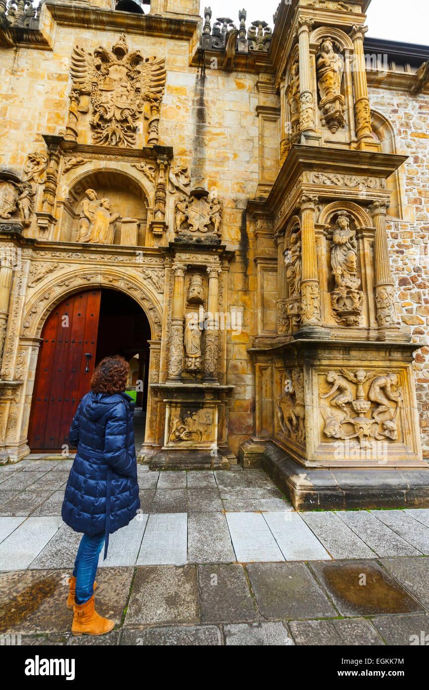 Facade. University of the Holy Spirit (Sancti Spiritus). Oñate. Guipuzkoa, Spain, Europe. - Stock Image