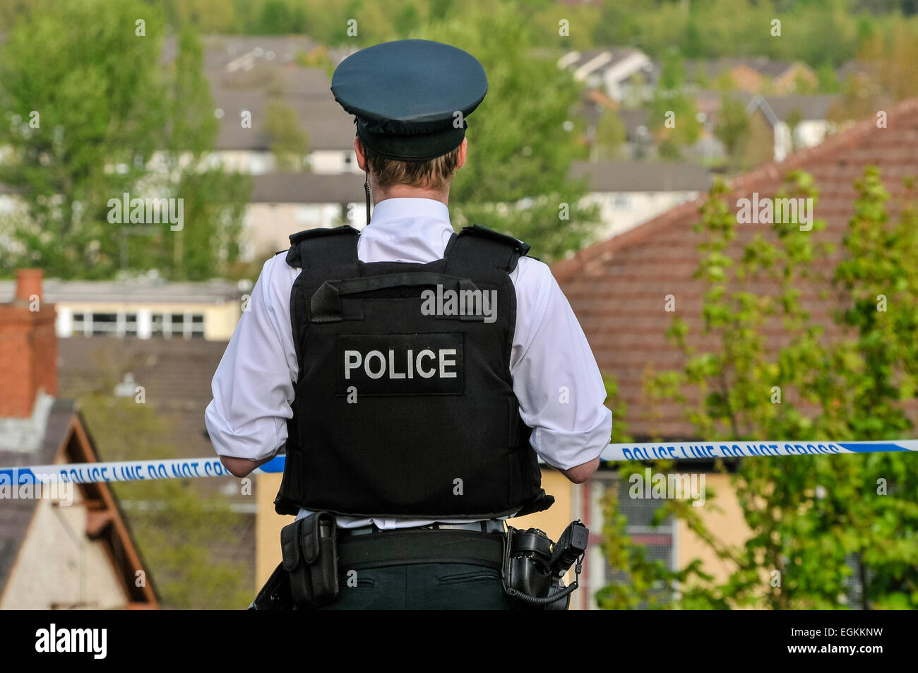 17th May 2013, Belfast, Northern Ireland.  Army ATOs were called in to deal with a suspect device, found the day - Stock Image