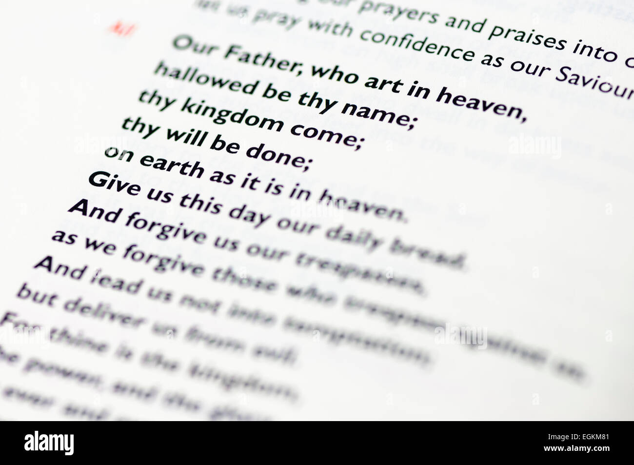 Lords Prayer Stock Photos Amp Lords Prayer Stock Images Alamy
