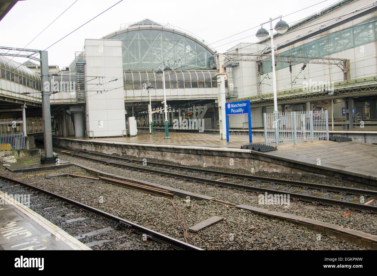 manchester picadilly station, Image from platform 13/14 - Stock Image