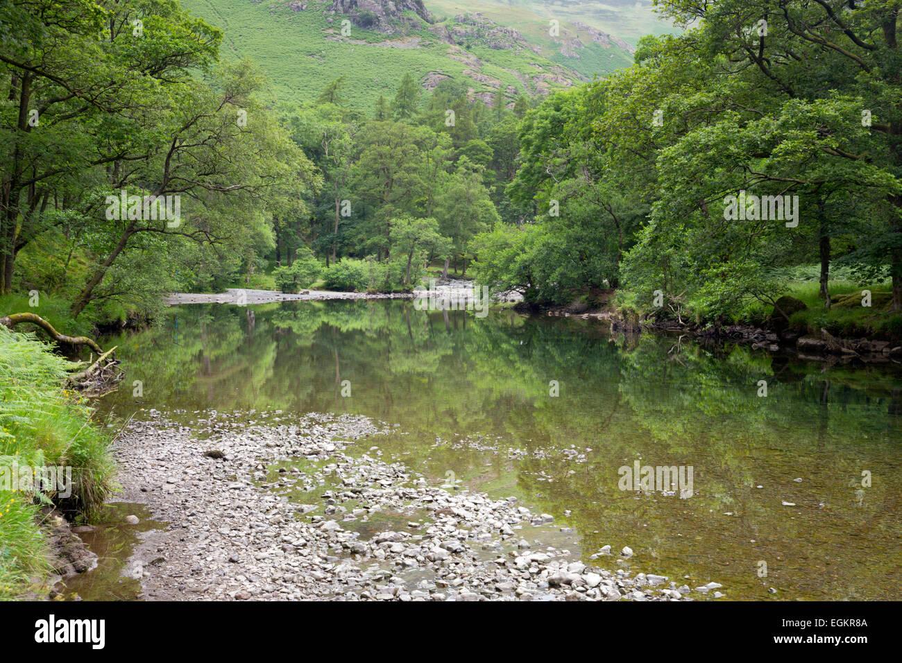 River Derwent Cumbria; UK - Stock Image