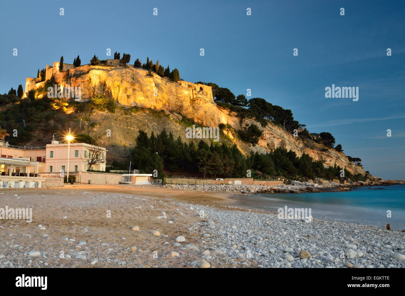 The Cassis Castle By Night In The Southern France Vue De Nuit Sur