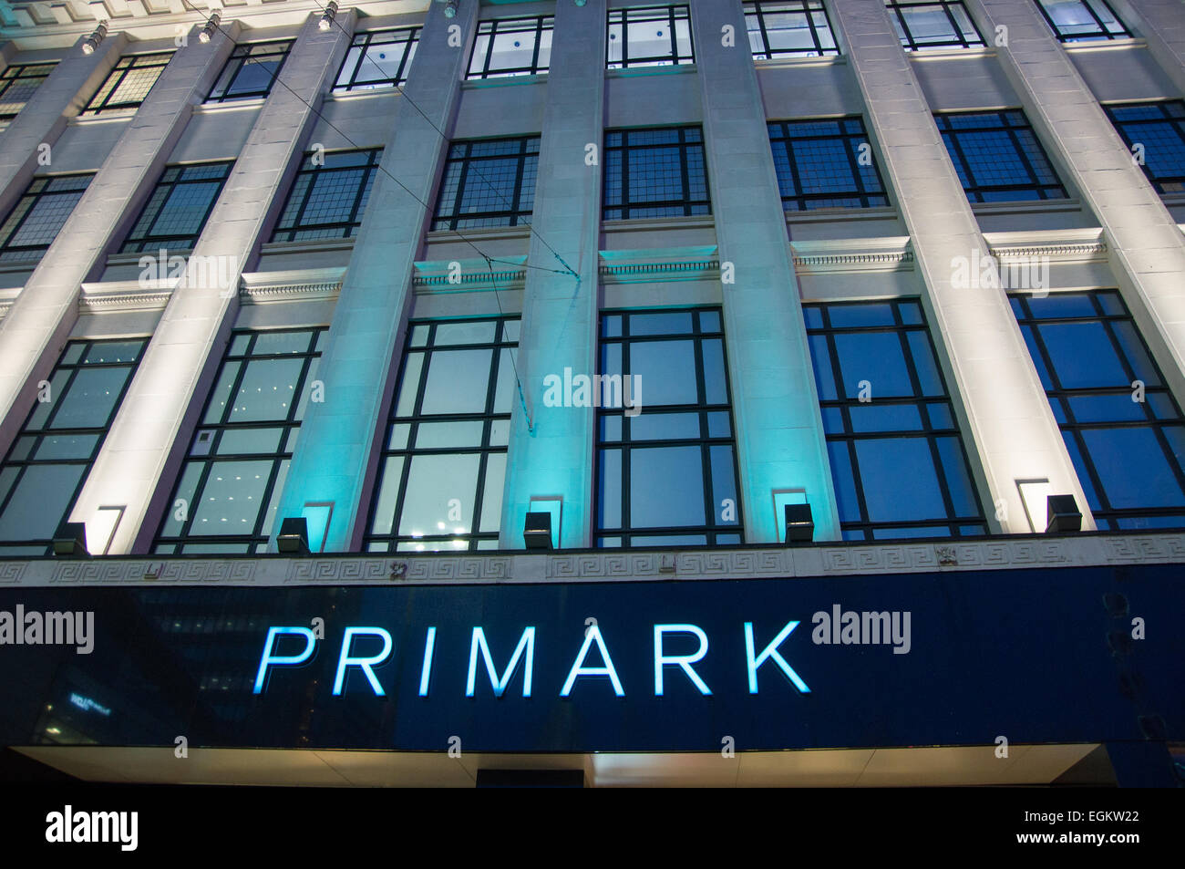 Primark, manchester at night - Stock Image
