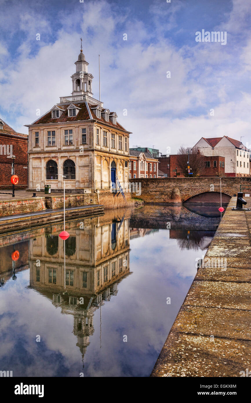 The Custom House, King's Lynn, home of the Tourist Information Centre. - Stock Image