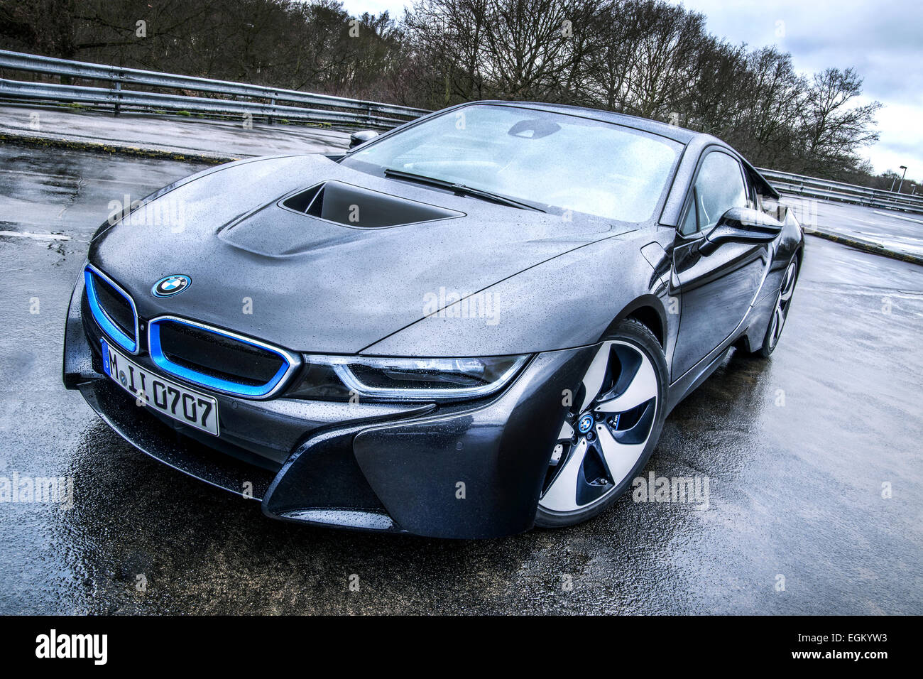 Bmw I8 Parking Scene License Plate Is Changed Stock Photo 79114927