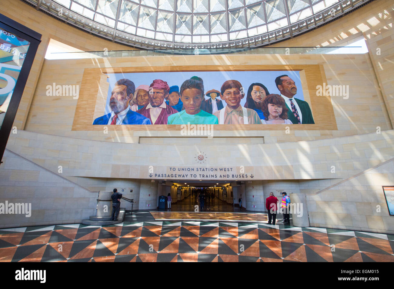 Union Station, Los Angeles, California - Stock Image