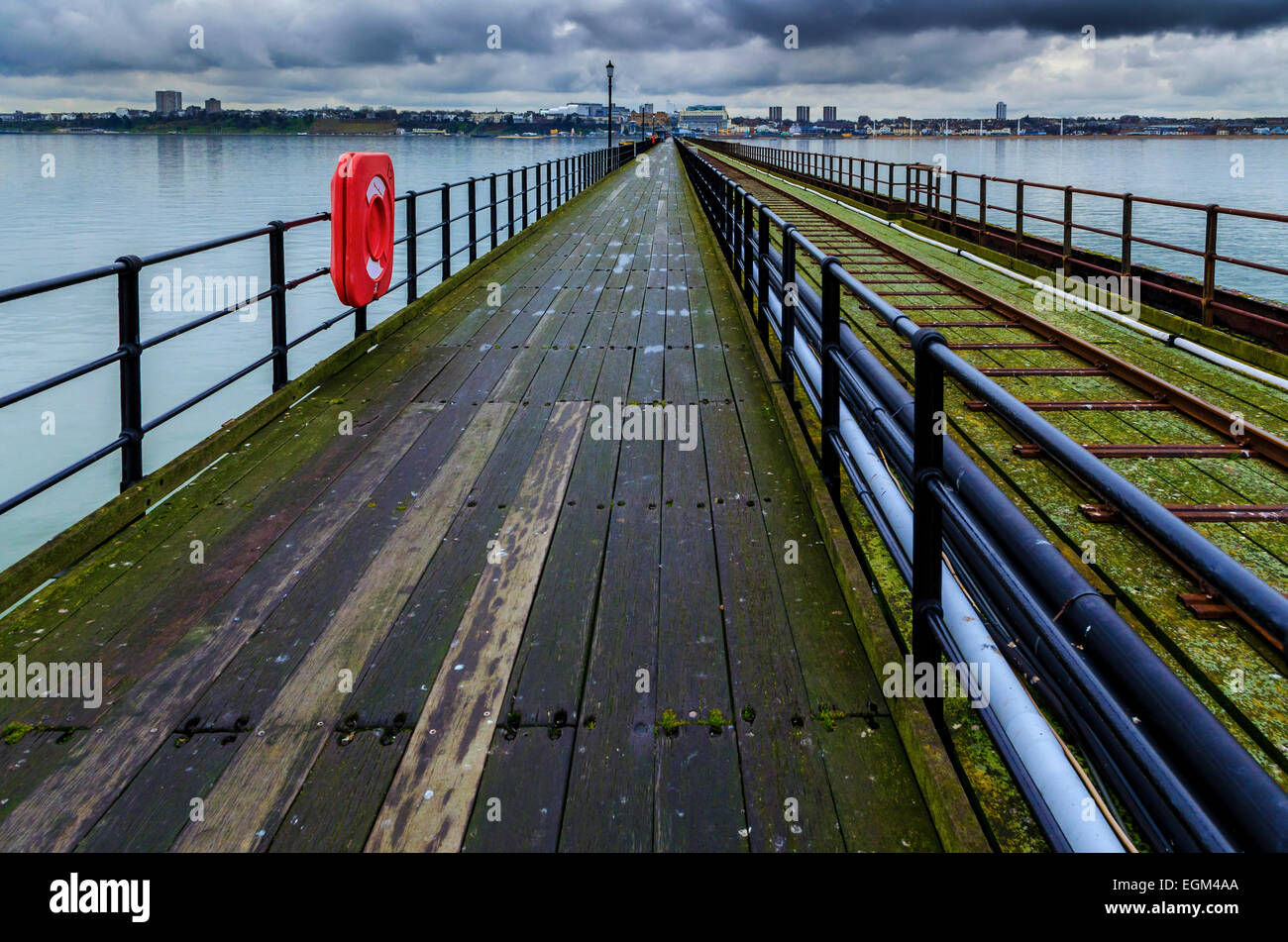 Southend Pier, The Longest Pier in the World, Southend-on-Sea, Essex - Stock Image