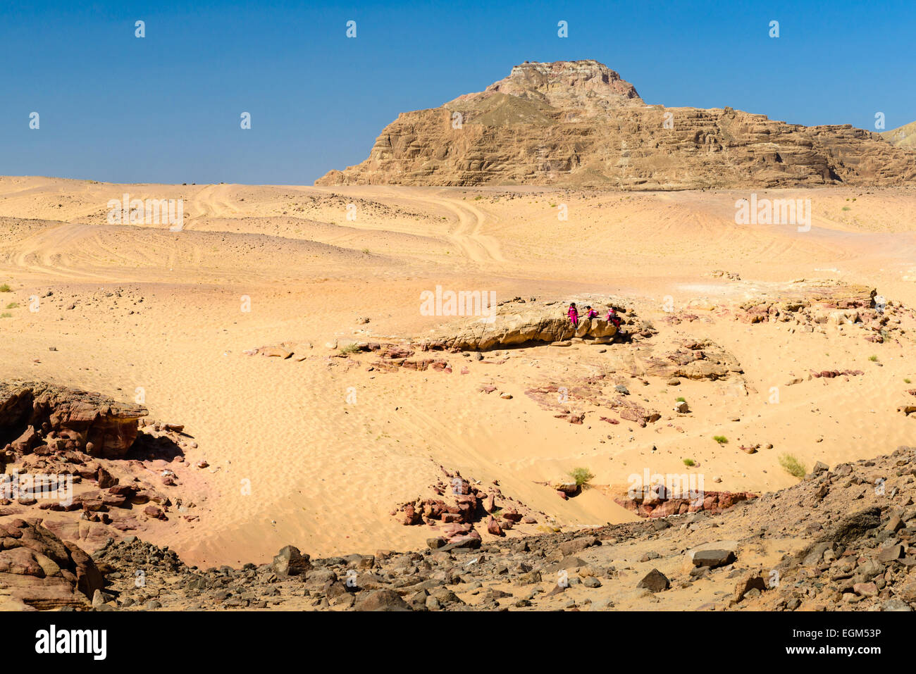 Entry to Colored Canyon in Sinai, Egypt. Coloured Canyon is a rock formation and dried riverbed on Sinai Peninsula - Stock Image