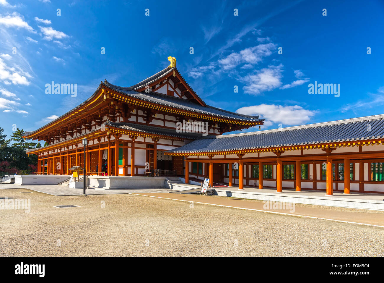Yakushi-ji Temple in Nara, Unesco world Heritage site, Japan - Stock Image
