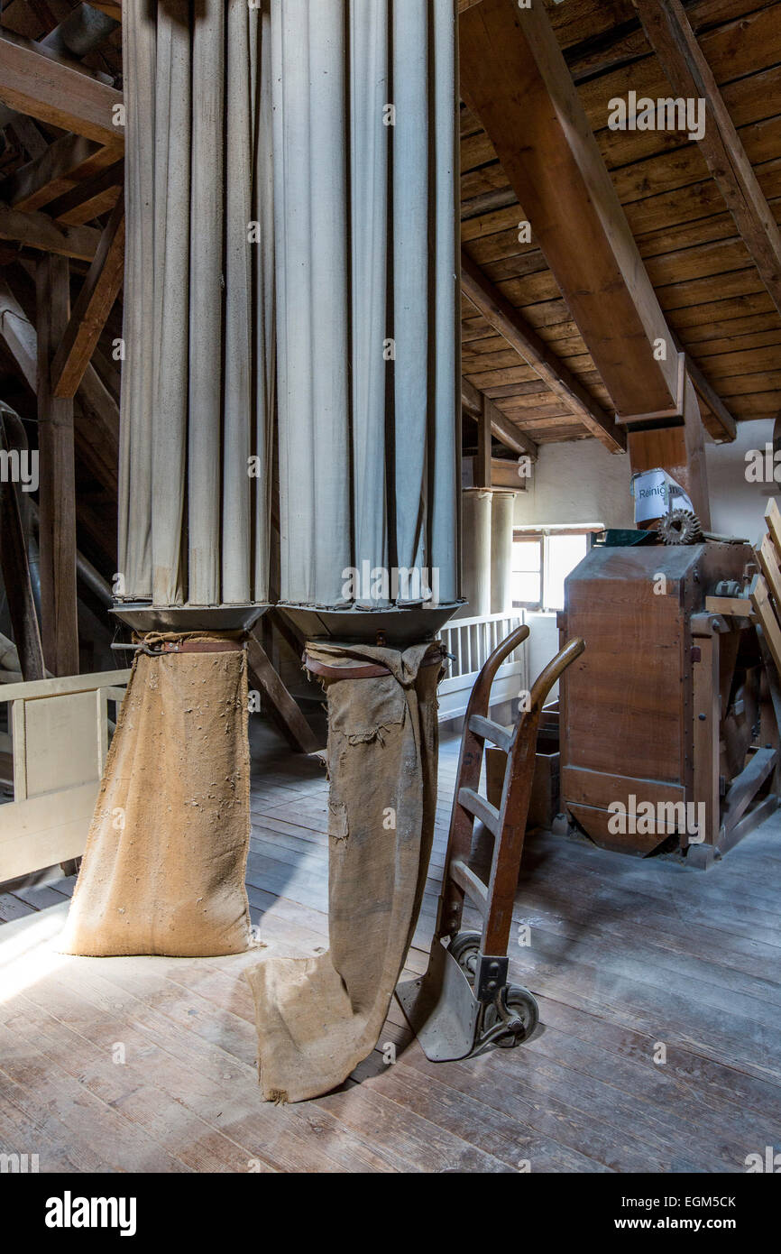 Historic water mill, 'Schleimer Mühle', the mill grins grain since 1333, still working, also a museum - Stock Image