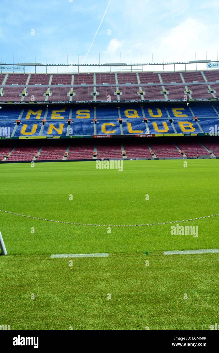 Nou Camp football arena - Stock Image