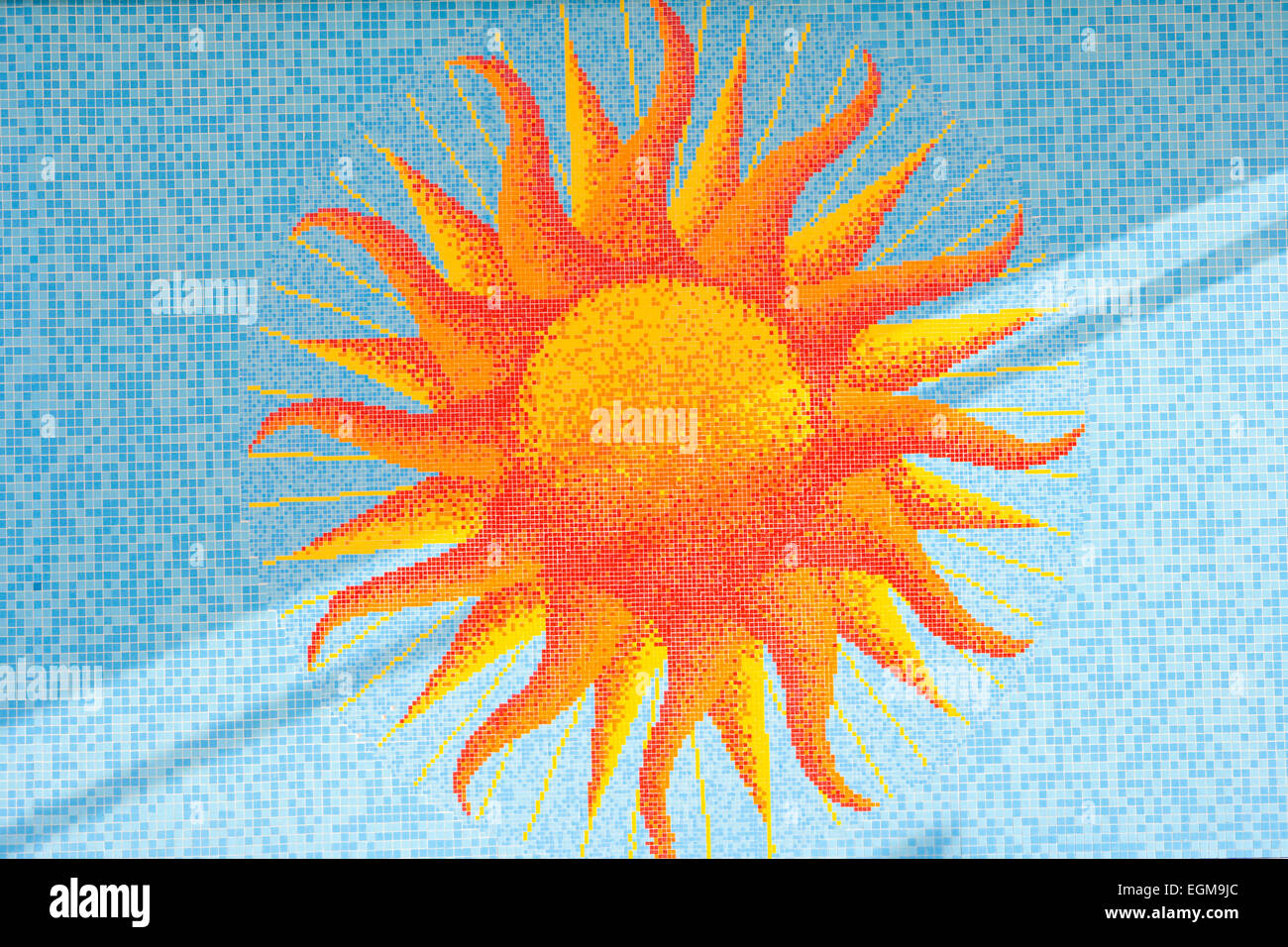 Sun Mosaic - Stock Image