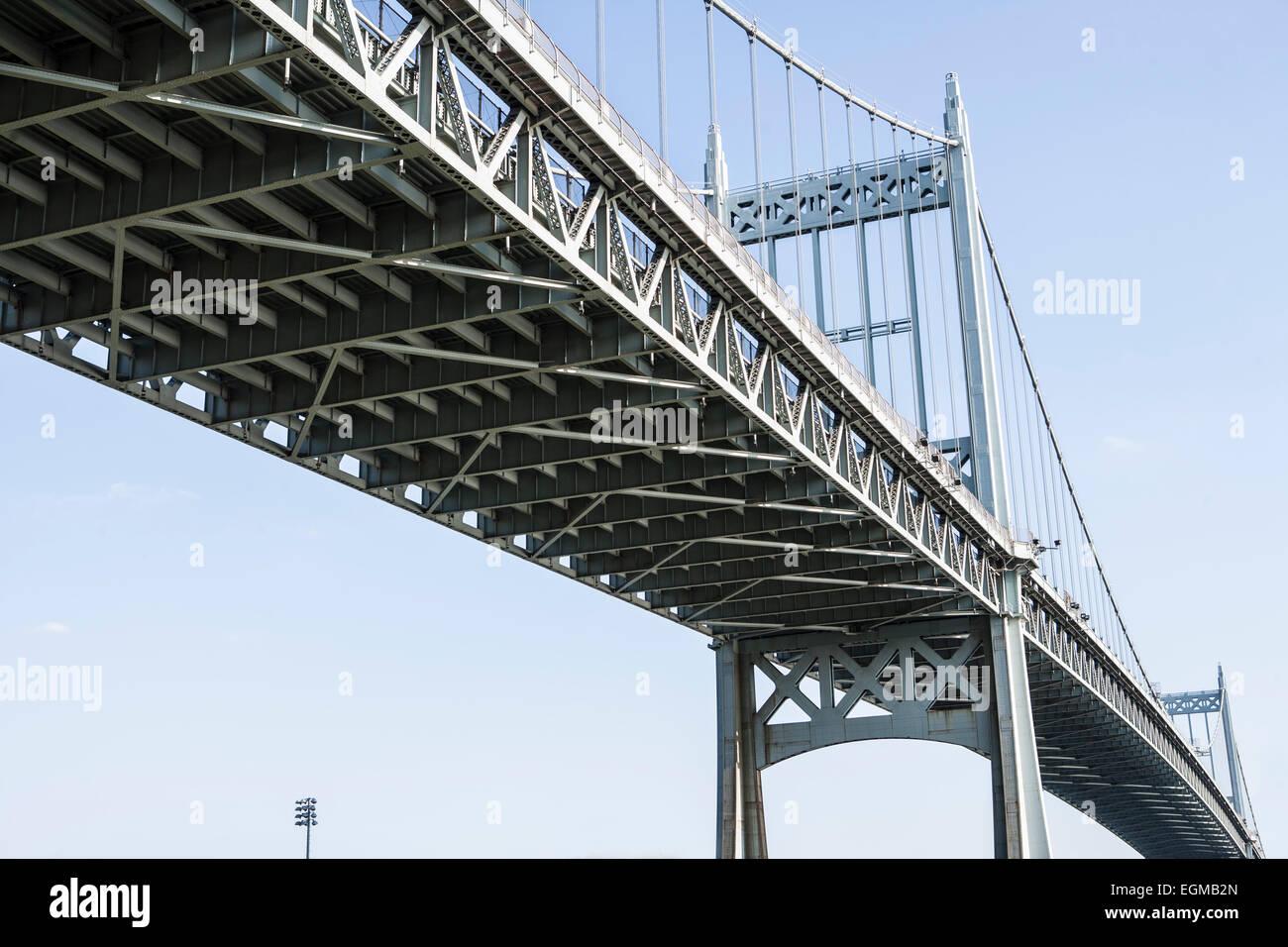 RFK Triborough Bridge, Low Angle View, New York City, USA - Stock Image