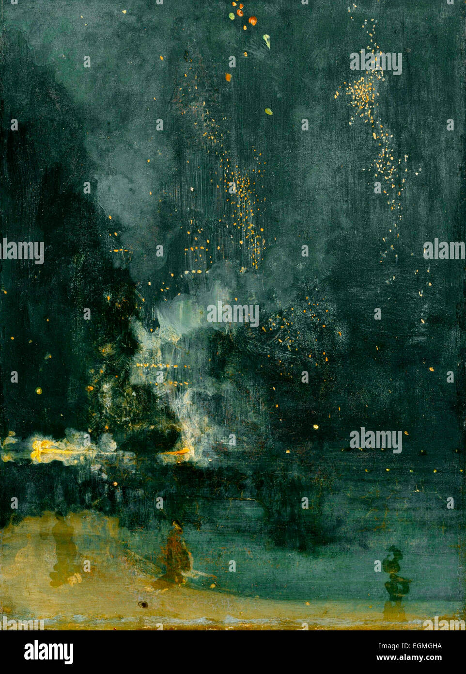 Nocturne in Black and Gold: The Falling Rocket - James Abbott McNeill Whistler, circa 1875 - Stock Image