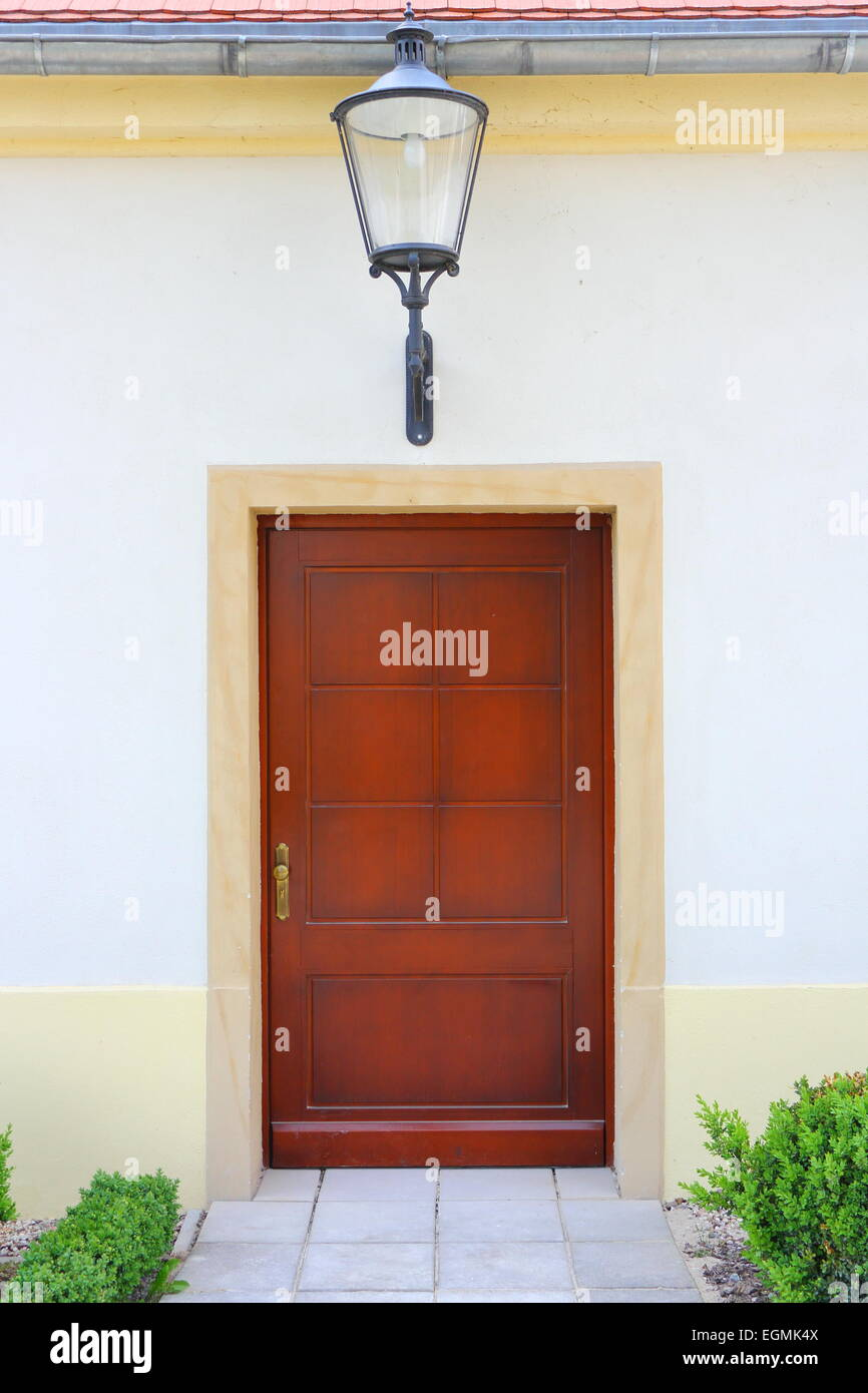 entrance to an old renovated house - Stock Image