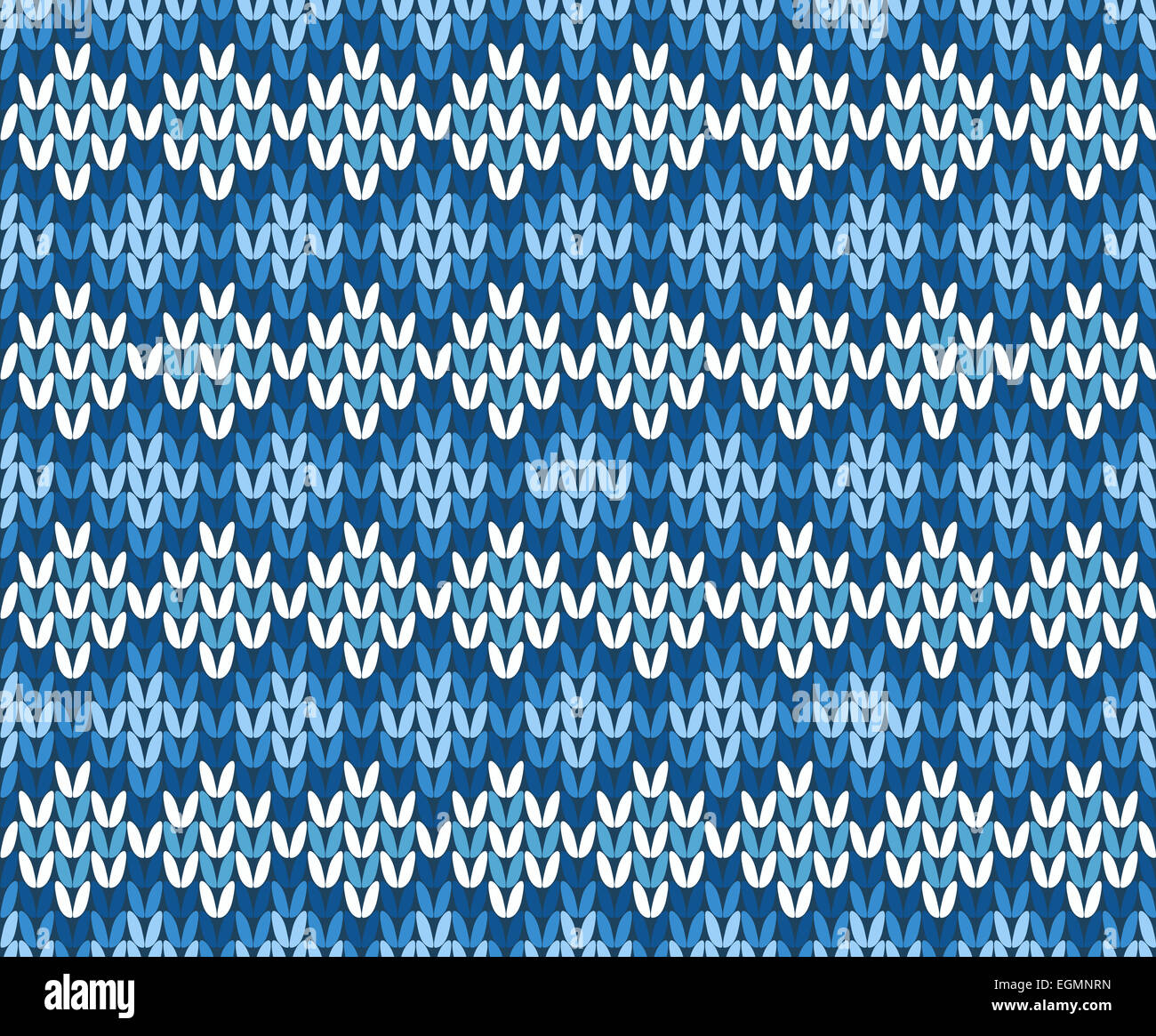 Blue and White Contrast Knitted Seamless Pattern from Abstract Stock ...