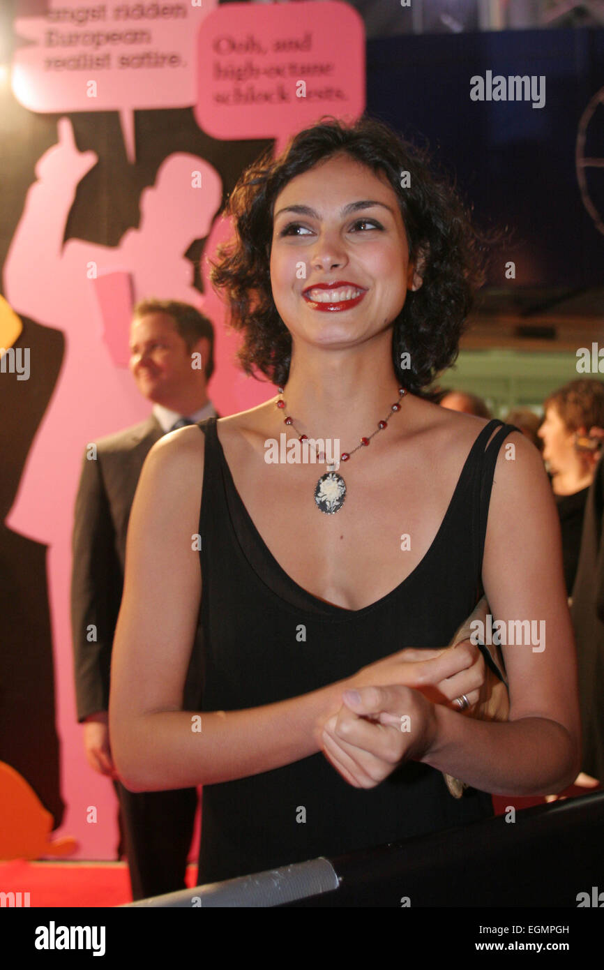 MORENA BACCARIN AT WORLD PREMIERE OF 'SERENITY' MOVIE, written and directed by Joss Whedon, creator of 'Buffy, - Stock Image