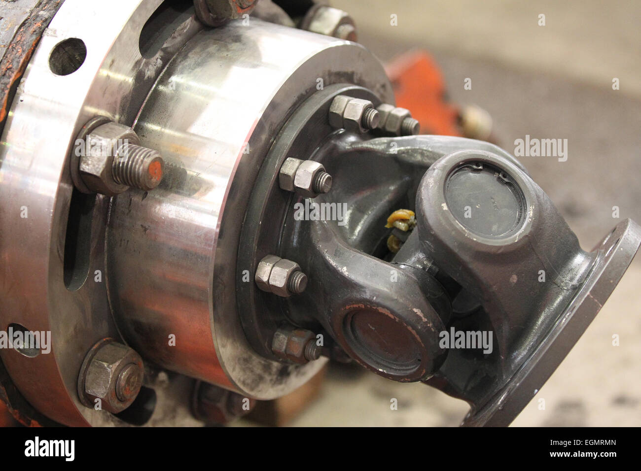 wheel assembly rotation transmitting gear shaft - Stock Image