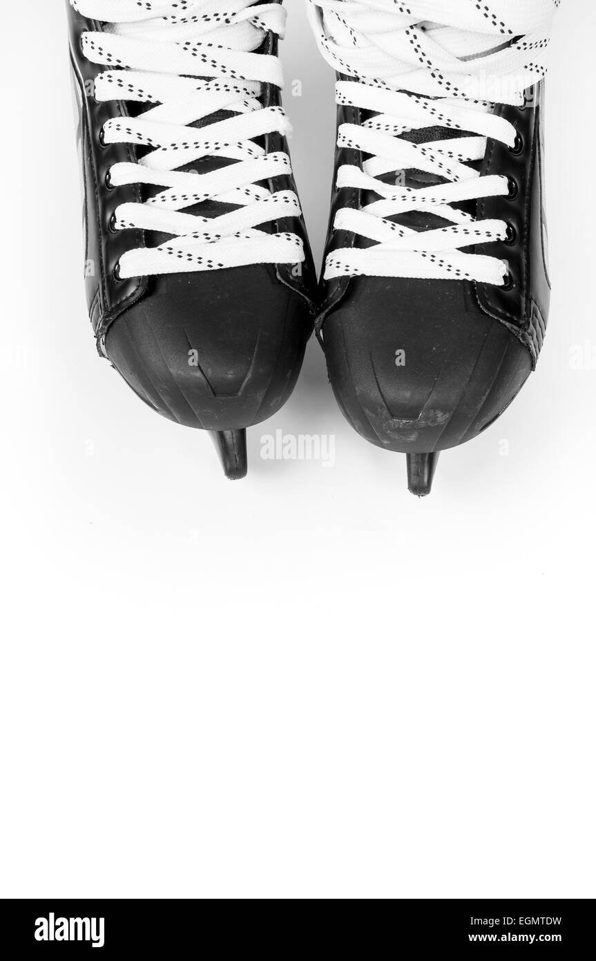 Ice skates isolates on white backgrounds - Stock Image