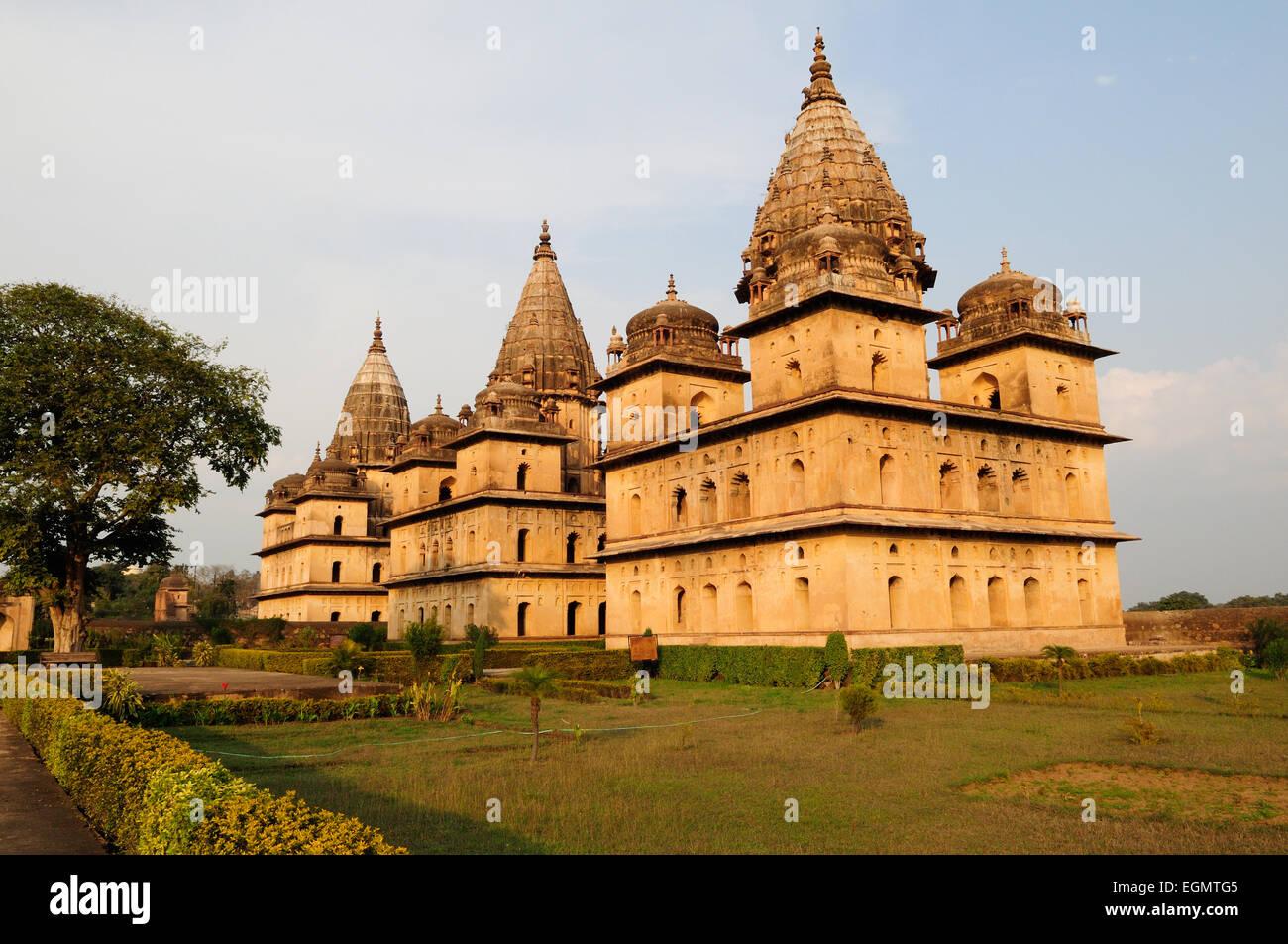 Royal Cenotaphs or chhatris Orchha Madhya Pradesh India - Stock Image