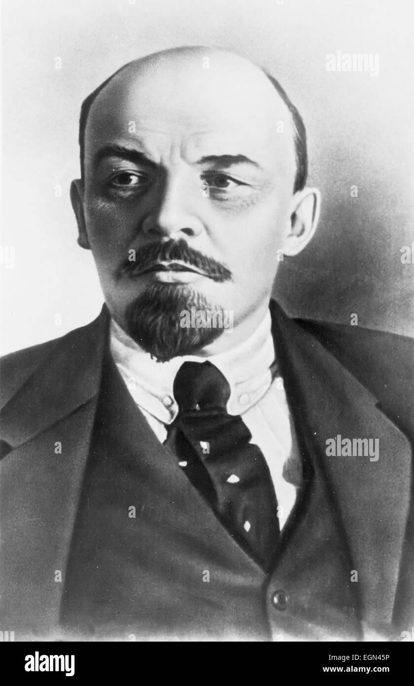 Vladimir Ilyich Ulyanov, alias Lenin, 1870-1924. Russian communist revolutionary, politician and political theorist. - Stock Image