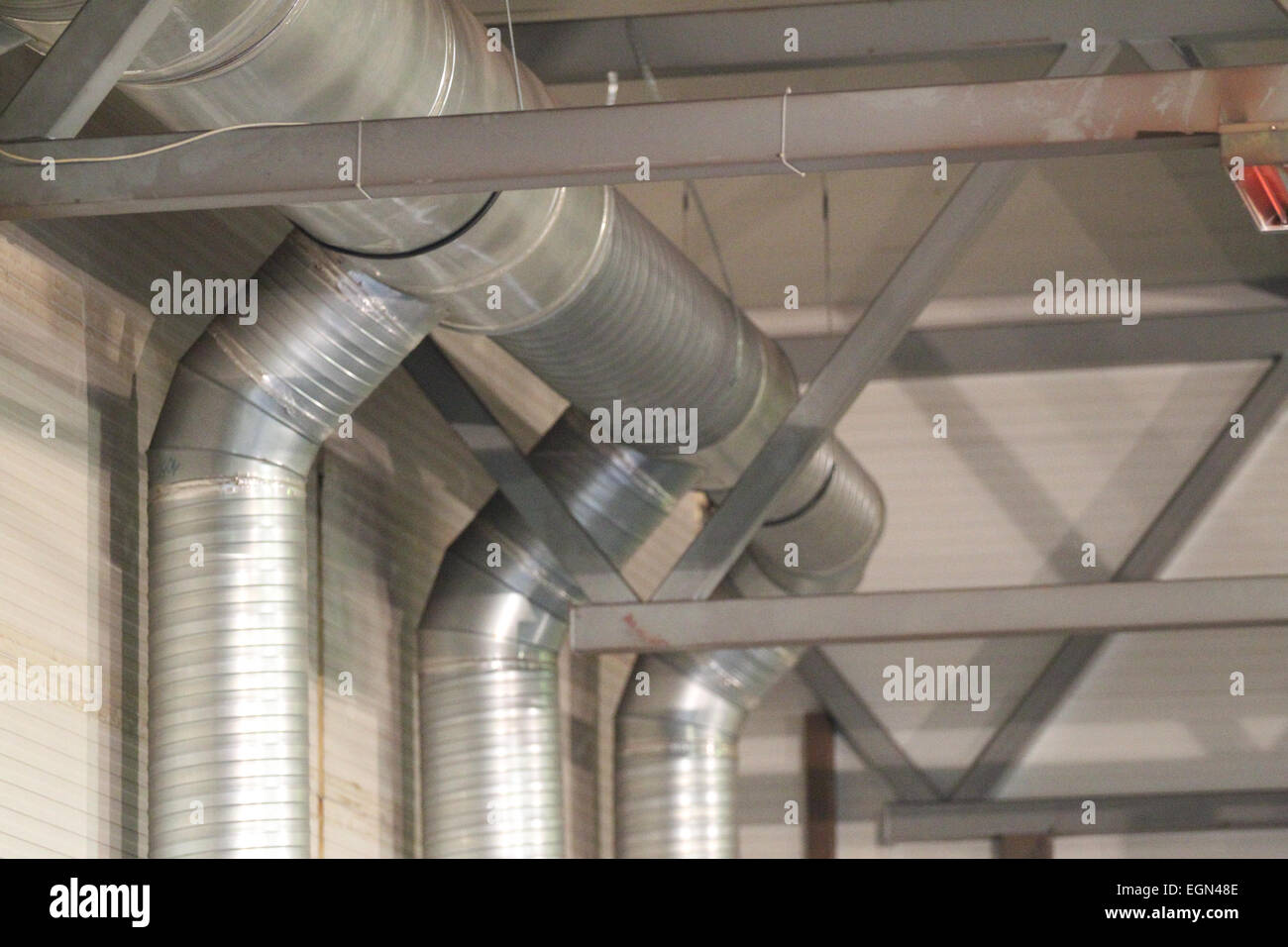 Industrial Ventilation Ducts : Ducting system stock photos images