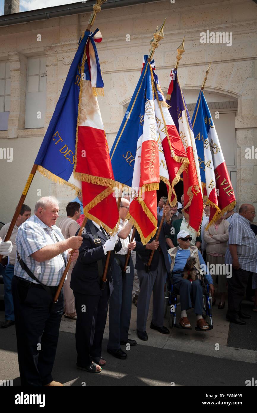 Gathering to honour the Federation des Accidentes du travail et des Handicapes National Federation of Labour Accidents - Stock Image