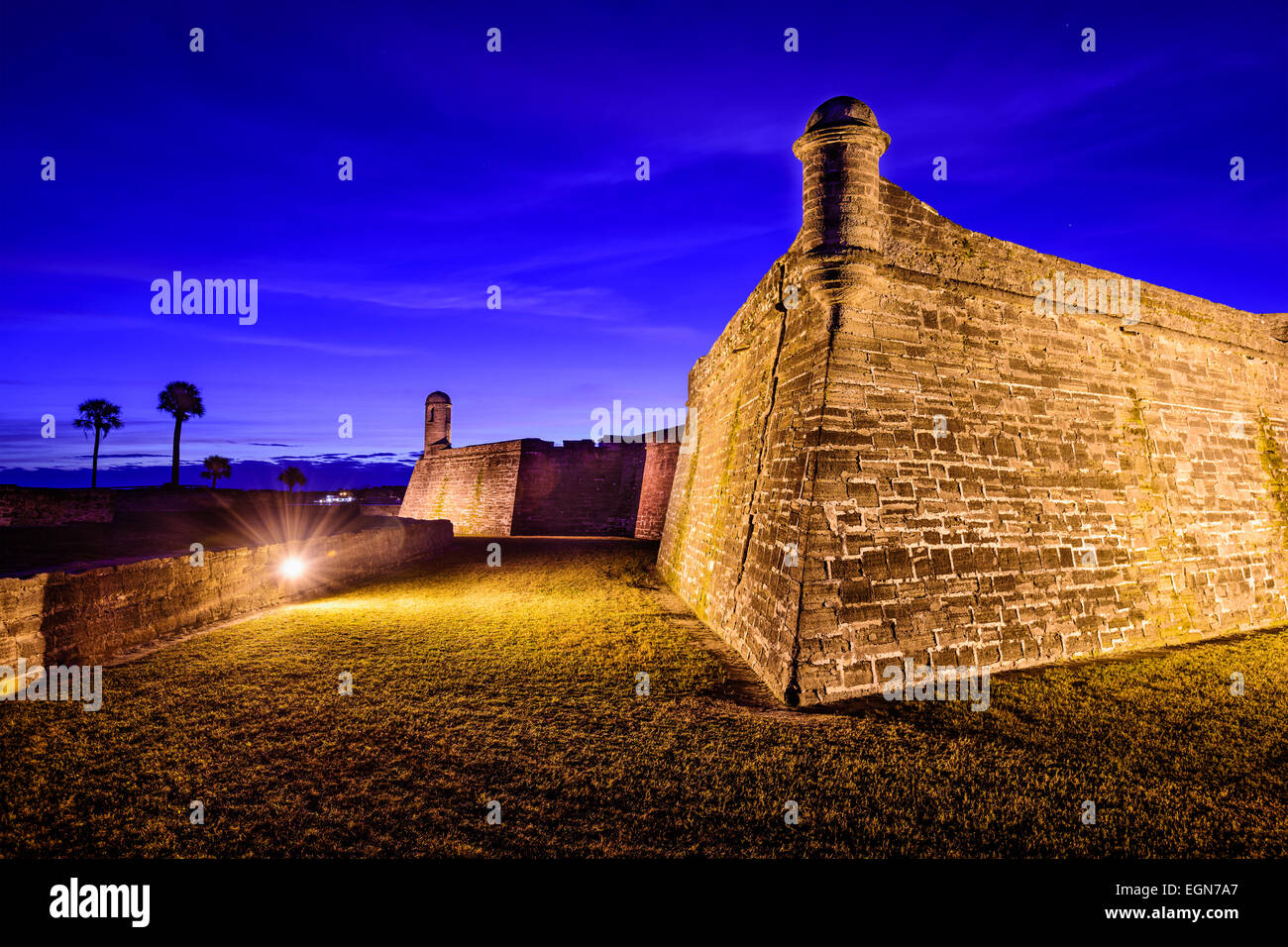 St. Augustine, Florida at the Castillo de San Marcos National Monument. - Stock Image