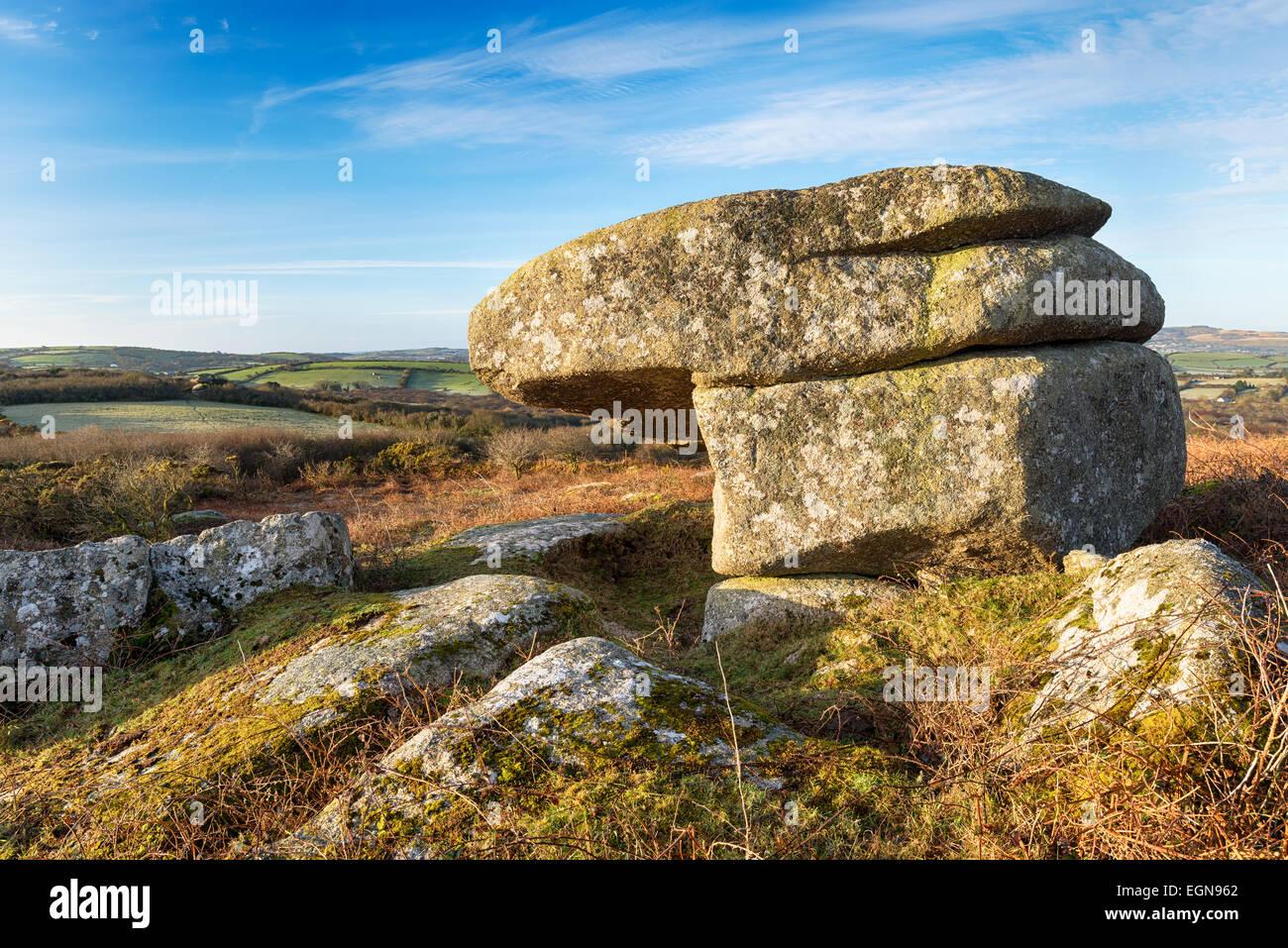 Helman Tor in Cornwall - Stock Image