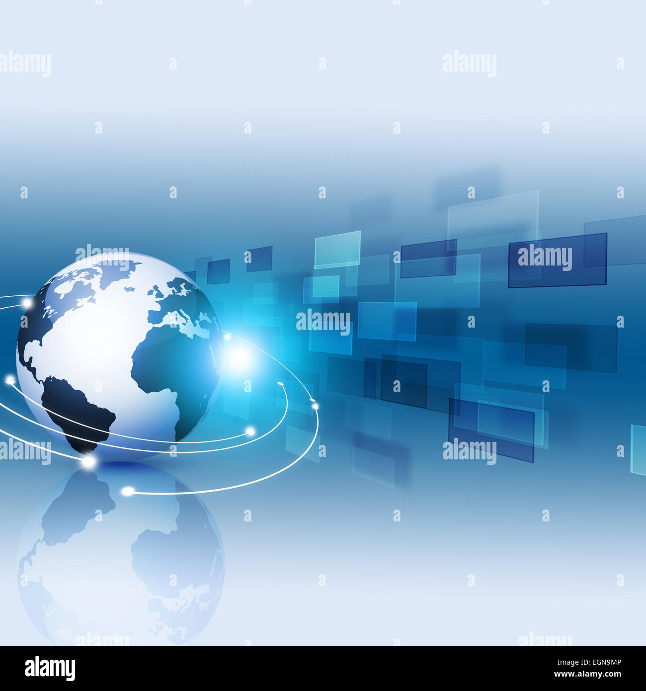abstract digital internet technology screens concept blue motion background - Stock Image