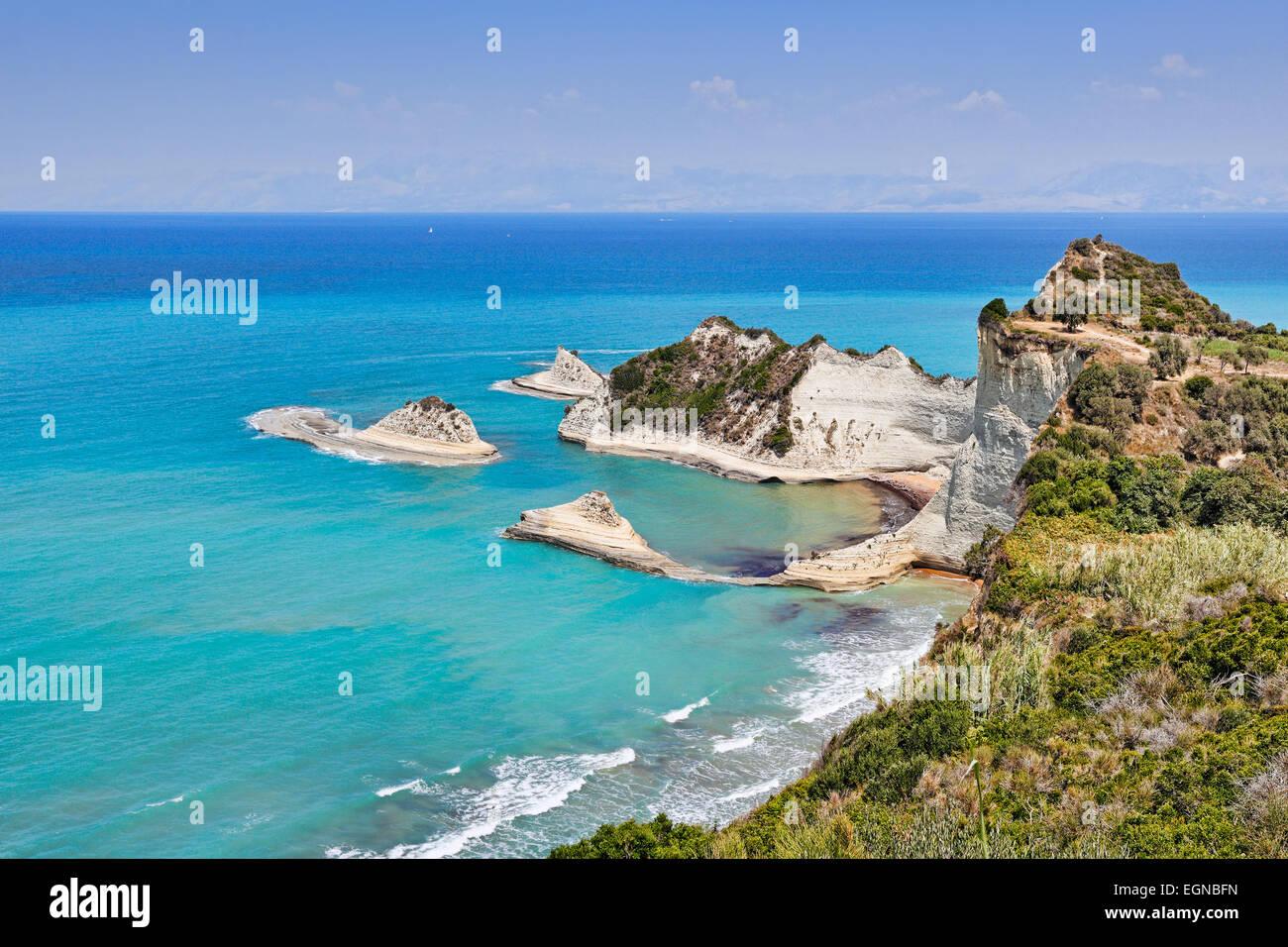 Cape Drastis at Corfu, Greece - Stock Image