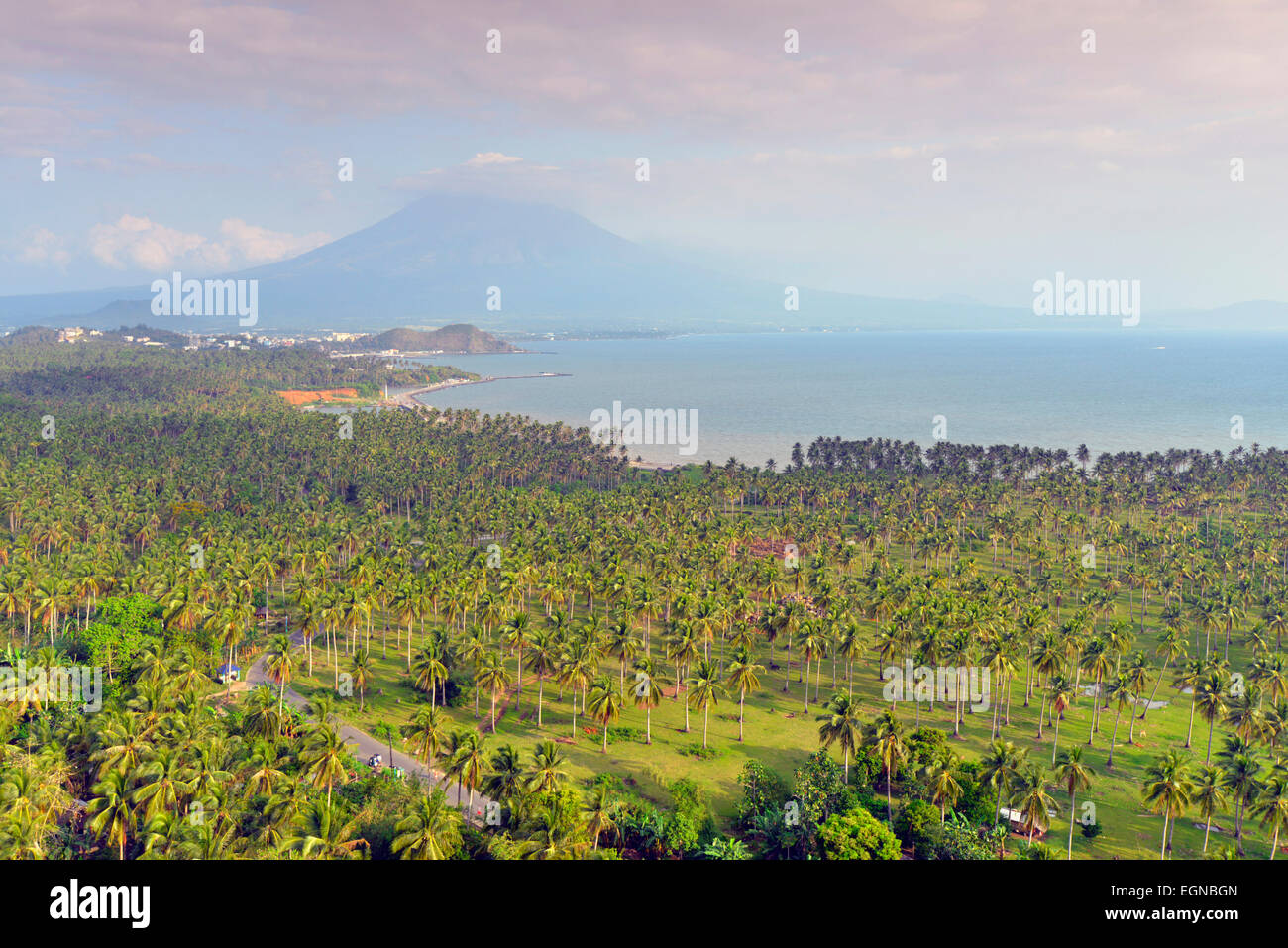 South East Asia, Philippines, south east Luzon, Legazpi, Mount Mayon Volcano - Stock Image