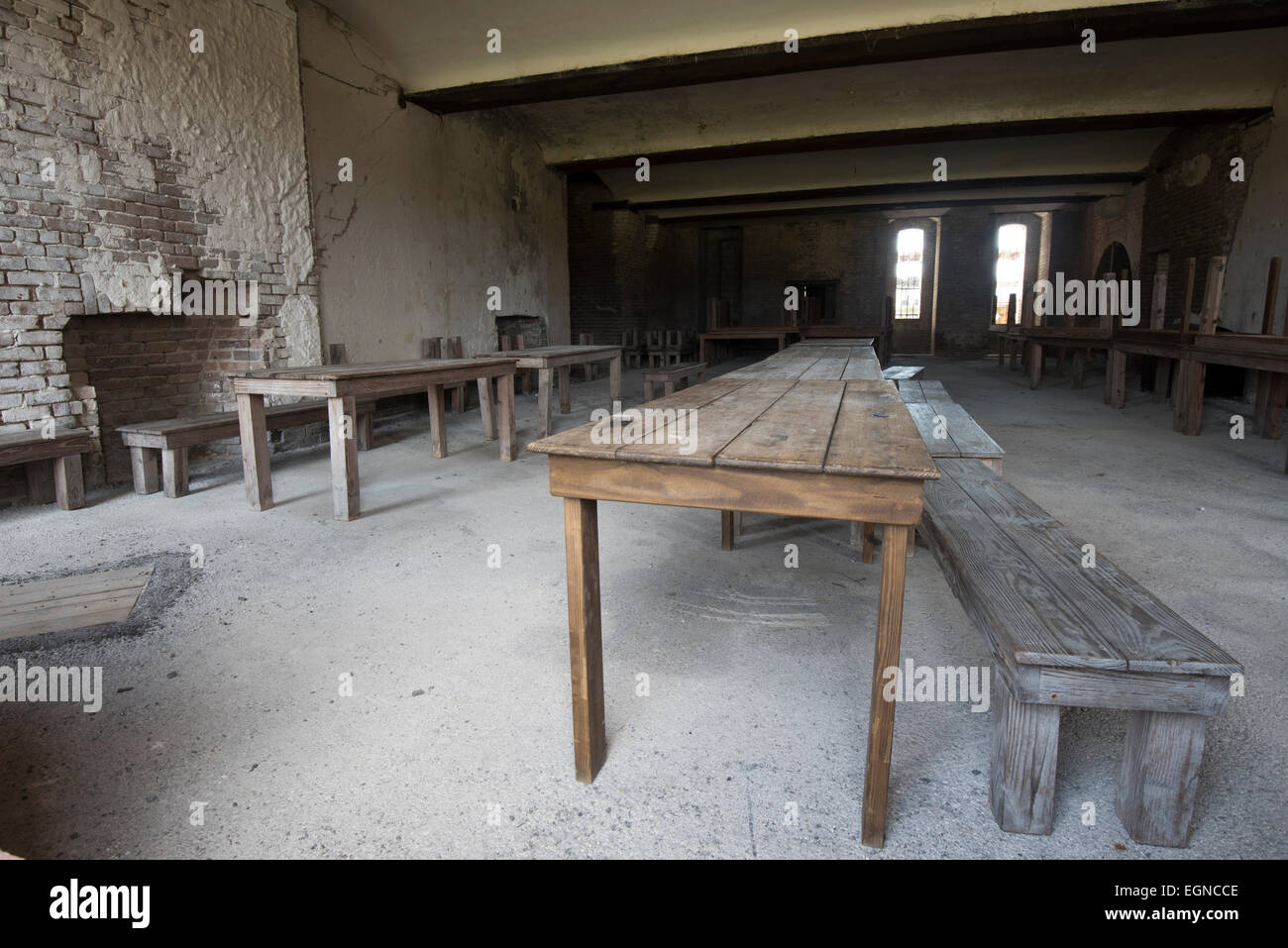 The mess hall at Fort Zachary Taylor State Historical Park - Stock Image