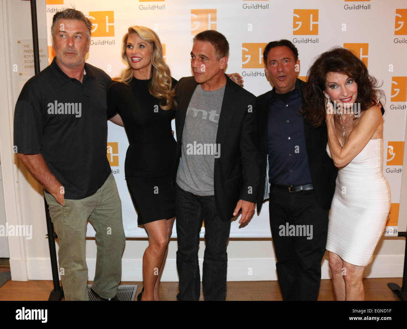 Celebrity Autobiography' at Guild Hall in East Hampton - Arrivals Featuring: Alec Baldwin,Christie Brinkley,Tony - Stock Image