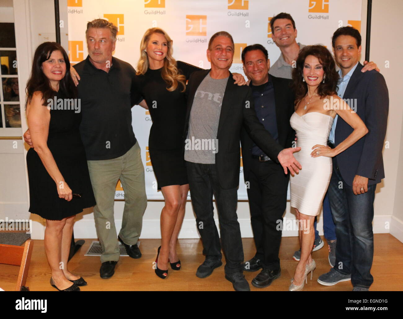 Celebrity Autobiography' at Guild Hall in East Hampton - Arrivals Featuring: Dayle Reyfel,Alec Baldwin,Christie - Stock Image