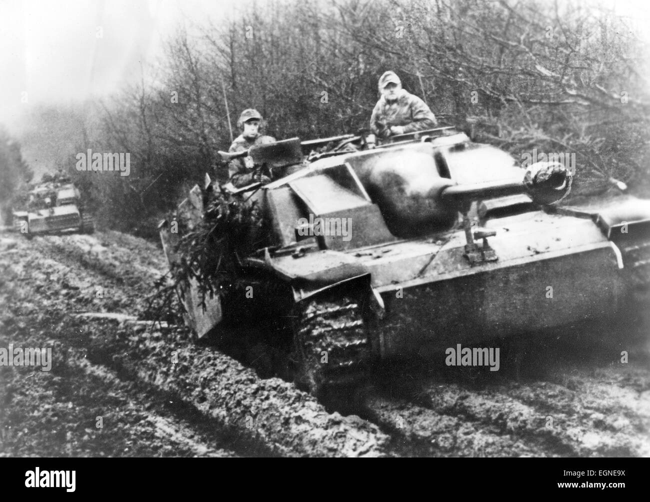 GERMAN PANZERTRUPPEN during WW2 - Stock Image