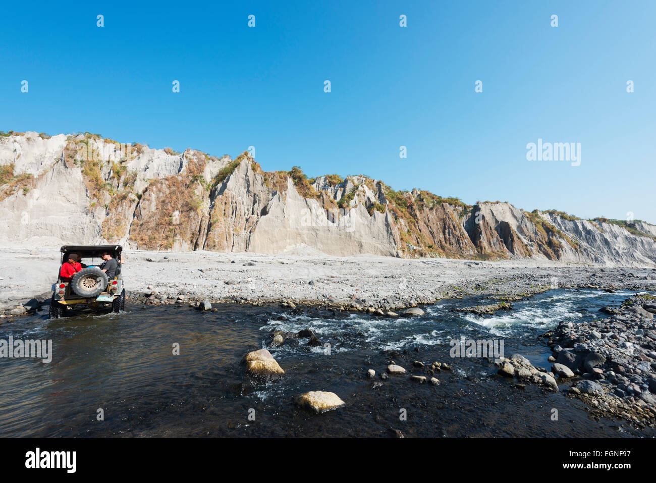 South East Asia, Philippines, Luzon, Pinatubo volcano  4WD tour - Stock Image