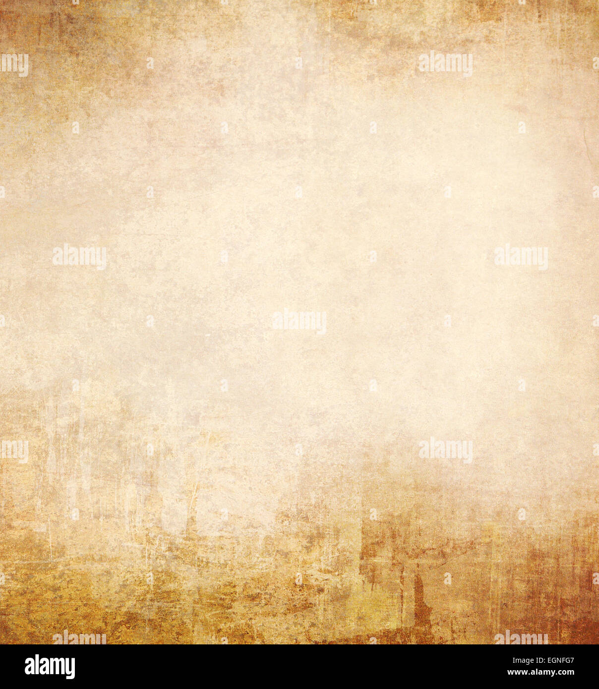 Parchment texture. Old blank sheet of paper. Abstract grunge background - Stock Image