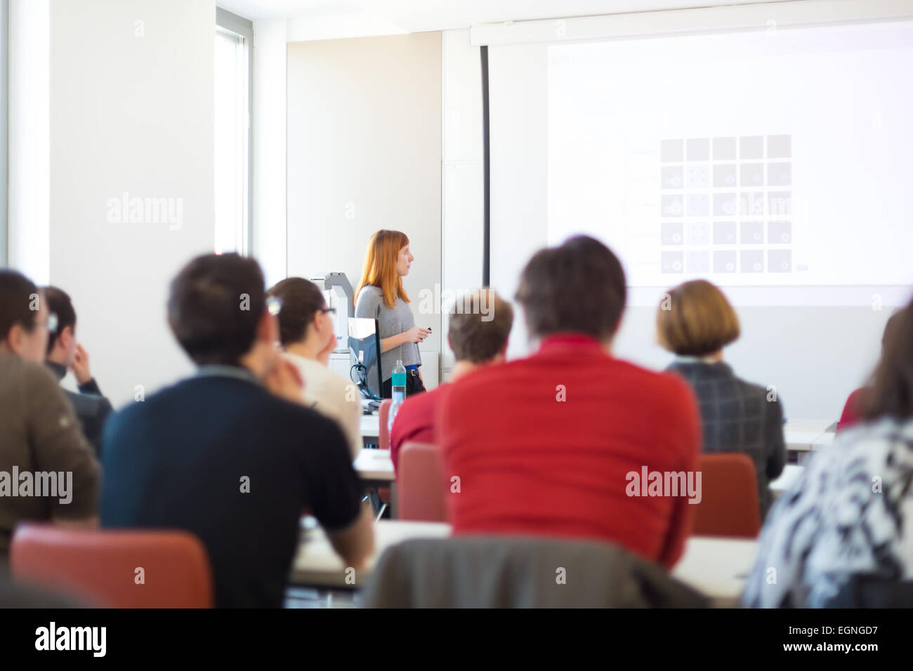 Lecture at university. - Stock Image