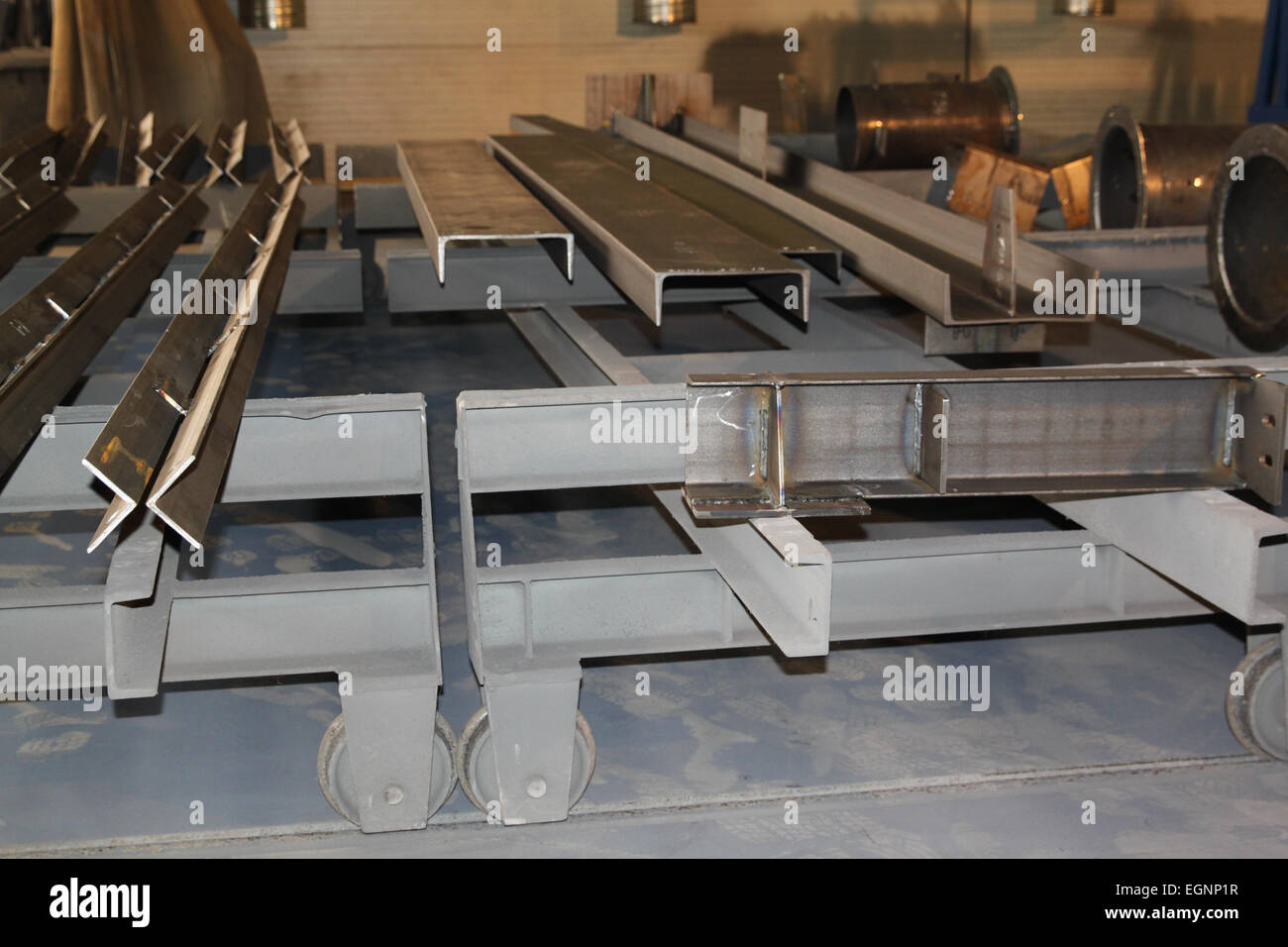 purified metal profile channel for use in structures - Stock Image