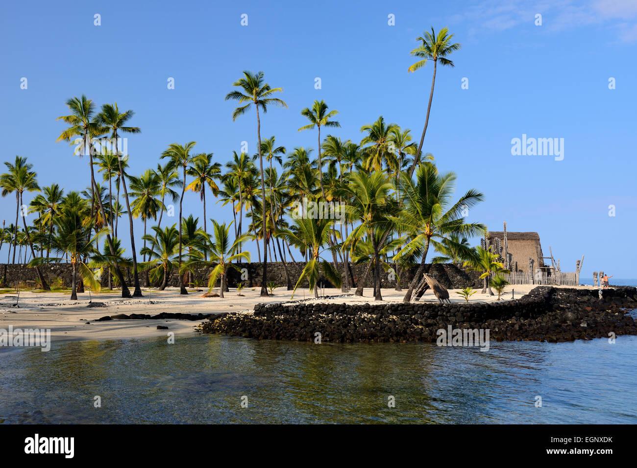 Pu'uhonua O Honaunau National Historical Park, Big Island, Hawaii, USA Stock Photo