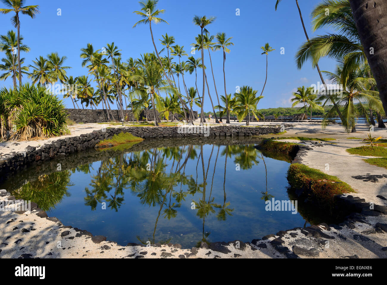 Heleipalala (fish pond) - Pu'uhonua O Honaunau National Historical Park, Big Island, Hawaii, USA Stock Photo