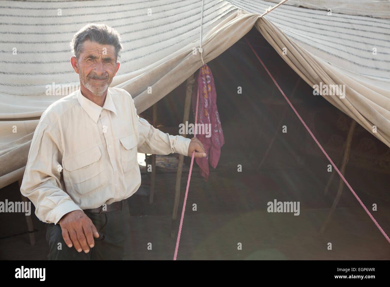 Indigenous nomadic people in Golestan Park, Iran - Stock Image