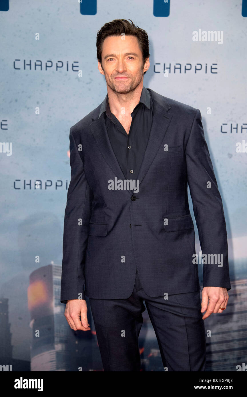 Hugh Jackman at the Fan-Event for the film 'Chappie' in the Mall of Berlin. Berlin, 27.02.2015 - Stock Image