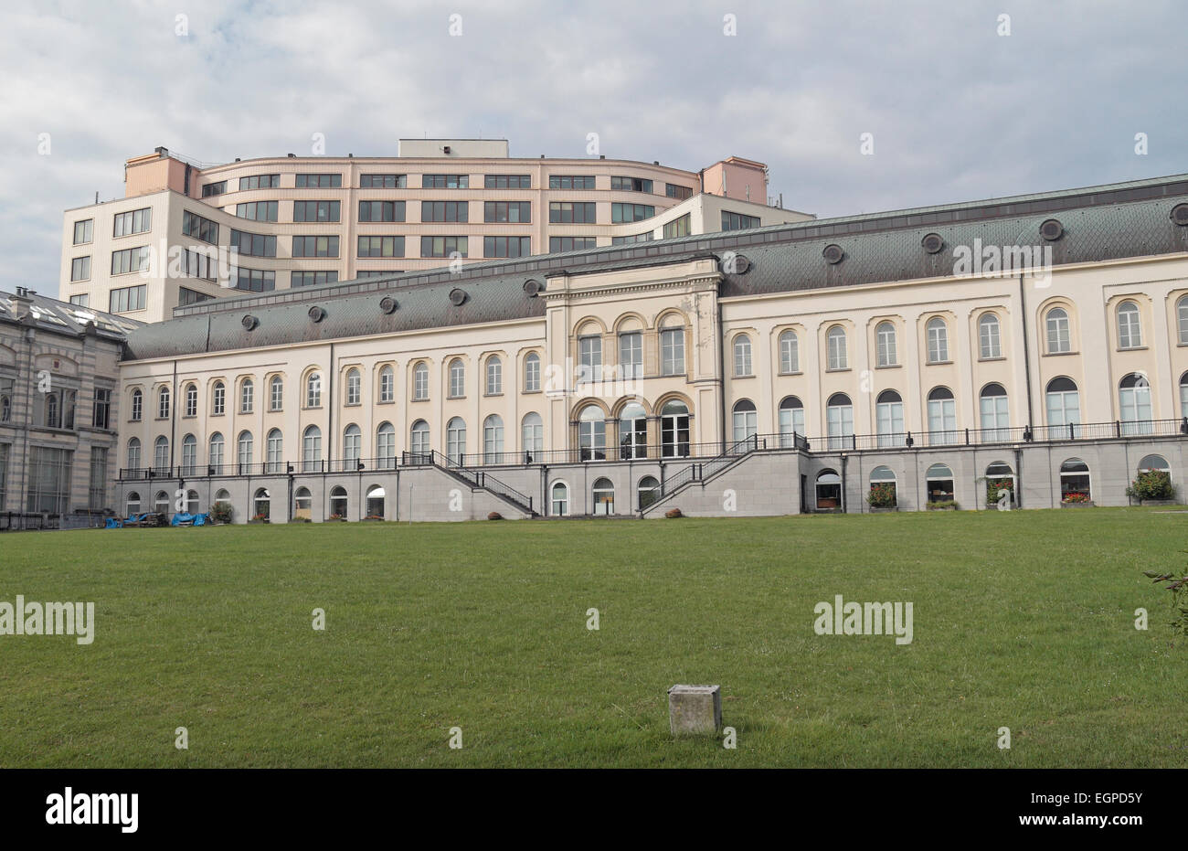 Rear view of the Royal Belgian Institute of Natural Sciences in Brussels, Belgium. - Stock Image