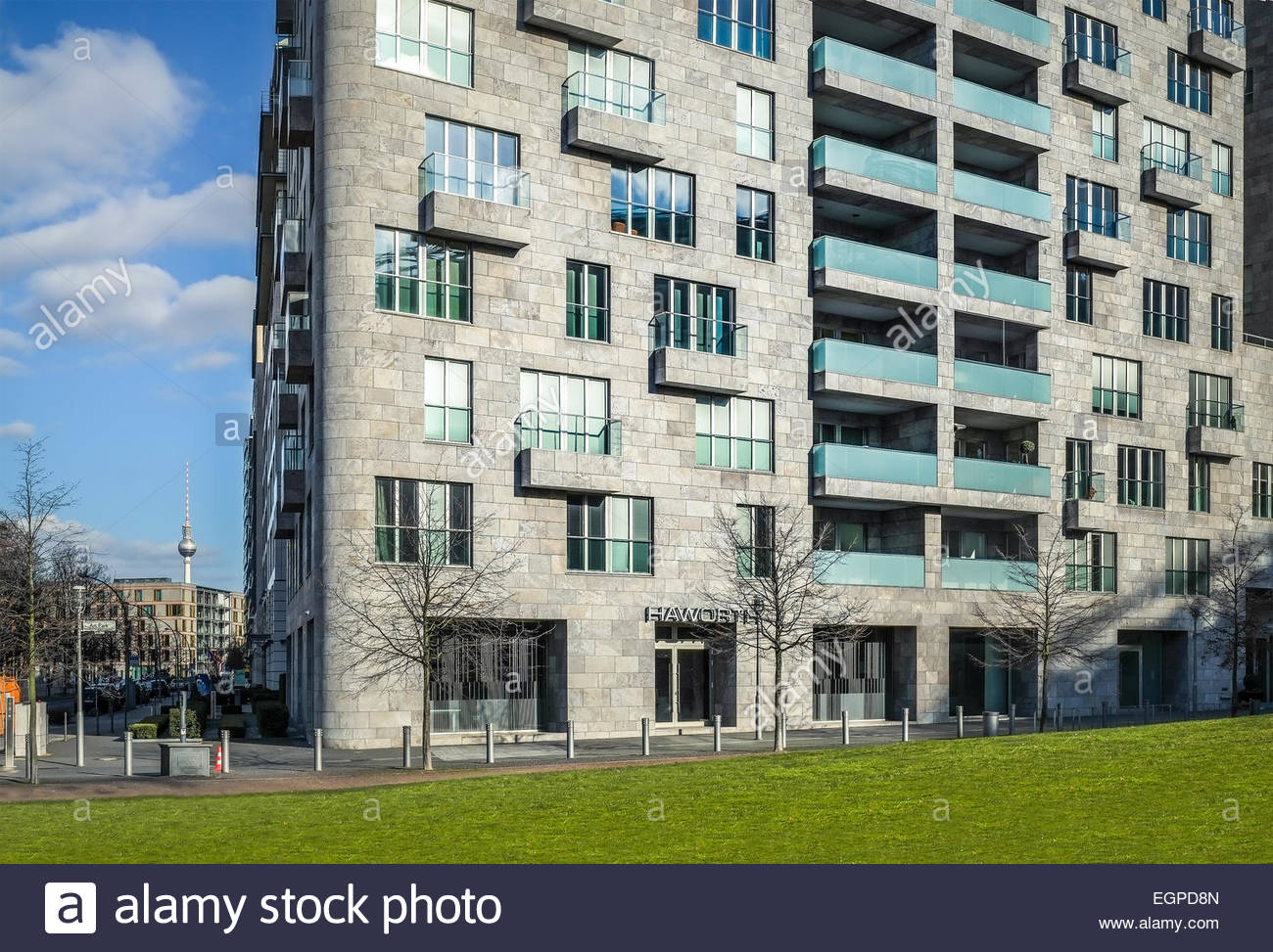 Apartment Building in Berlin, Germany - Stock Image