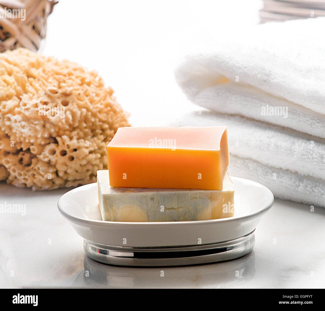soap bathroom - Stock Image